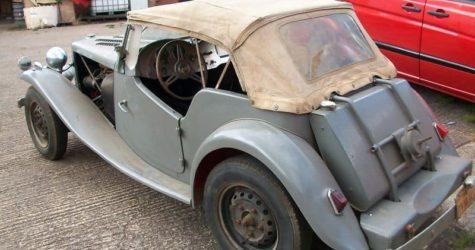 MG TD 1950 before refurb