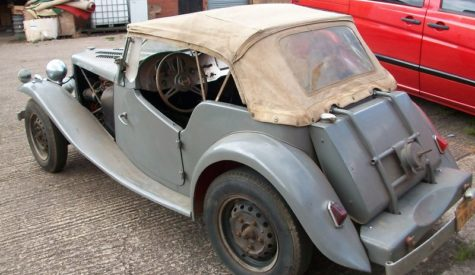 MG TD 1950 before refurb